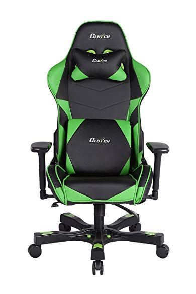 Awe Inspiring Clutch Chairz Crank Series Charlie Gaming Chair Black Green Pdpeps Interior Chair Design Pdpepsorg