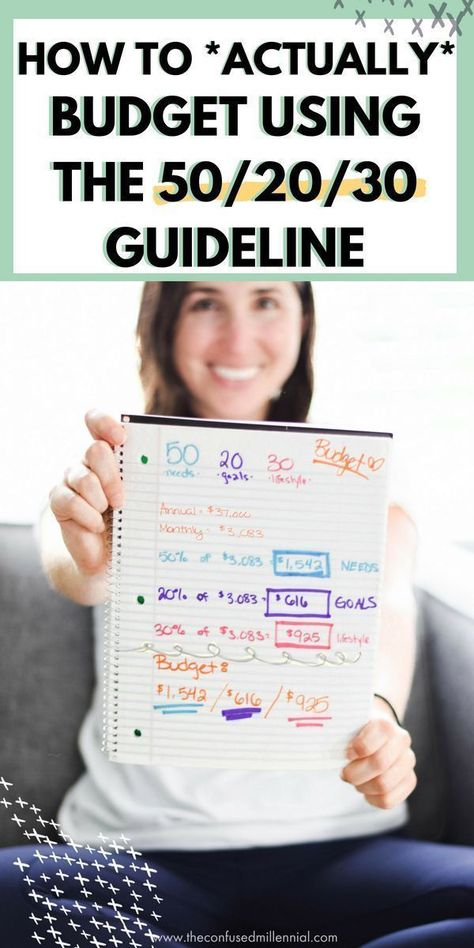 How To *Actually* Budget Using The 50/20/30 Guideline