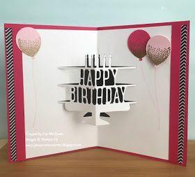 Jan S Creative Corner 21st Birthday Pop Up 21st Birthday Cards Birthday Card Pop Up Stampin Up Birthday Cards