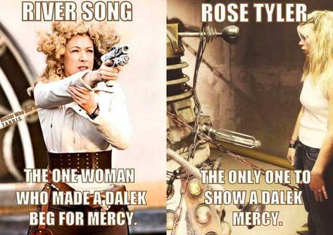The Doctor's two true loves. Both women reflect wh… Take a look at a mixture of pins all to do with the topic of Doctor Who. Never before has there been a better time to Pin your favourite science fiction show Star Trek, Serie Doctor, Pokemon, Doctor Who Quotes, Doctor Who Meme, Fandoms, Batman, Tenth Doctor, Dalek