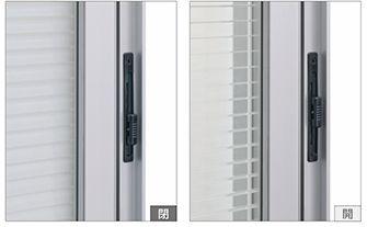 羽根角度調整装置 引違い窓 ブラインド サッシ 建材