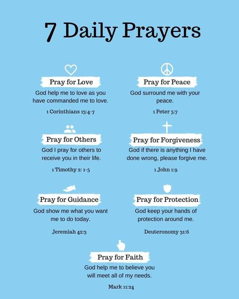 Daily prayer is the most important thing you can do. Life gets busy but we should always remember to pray daily. It's important to include each of these seven parts of daily prayer into your prayer life so you will be equipped to stand. #prayersdailyprayer #intercessoryprayer #faithprayer #prayerforguidance #prayerforprotection #prayerfortoday #prayerforforgiveness