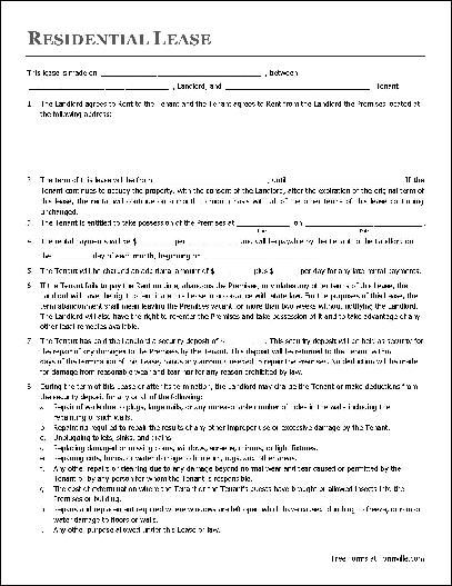 Printable Sample Renters Lease Agreement Form books Pinterest - Land Lease Agreement Template Free