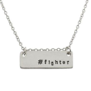 Fighter Survivor Hashtag Necklace Isabellegracejewelry Hashtag Necklace Stamped Jewelry Engraved Jewelry