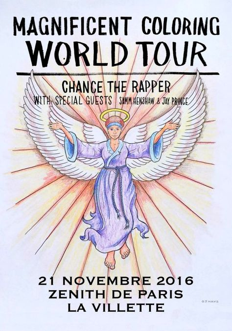 Chance The Rapper Gig Poster Chance The Rapper Coloring