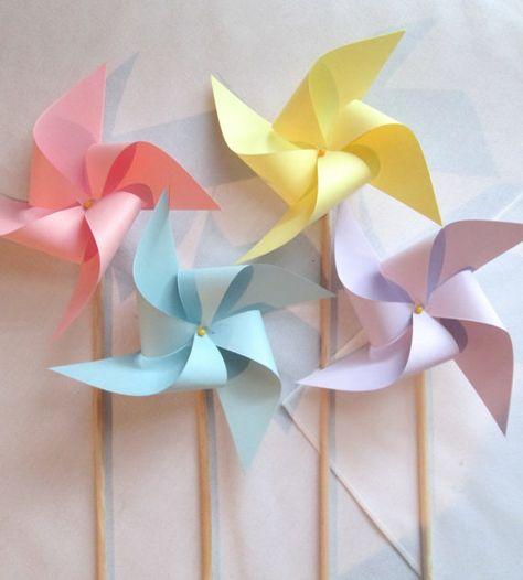 Pretty Pastel Pinwheels Set of 16 Pinwheels by PinwheelPretties, $45.99