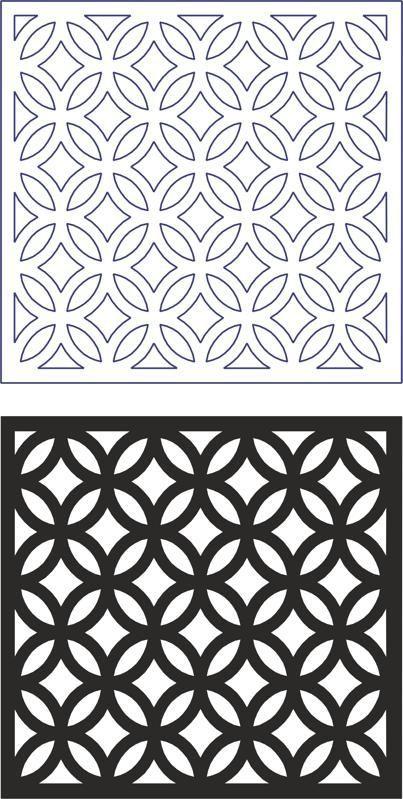 Vector Geometric Seamless Pattern Modern dxf File Free Download