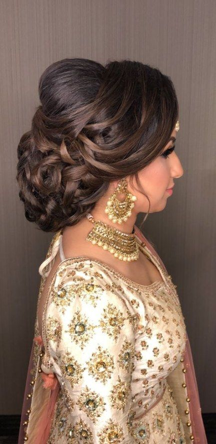 North Indian Bridal Hair Style Makeup 15 Ideas Hairdo Wedding Indian Wedding Hairstyles South Indian Wedding Hairstyles