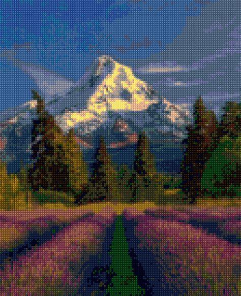 Oregon Mount Hood landscape Cross Stitch pattern PDF - Instant Download!