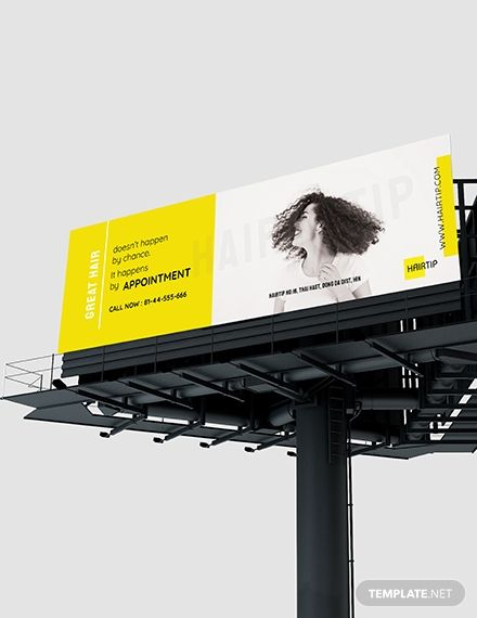 Hair Salon Billboard Template [Free PSD] - Illustrator | Template.net