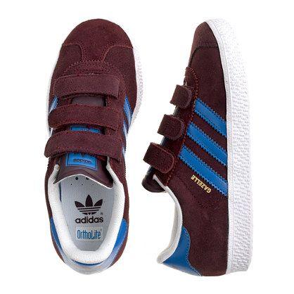 Kids\u0027 junior Adidas� gazelle sneakers in burgundy CrewCuts | LIAM PRESLEY.  | Pinterest | Adidas gazelle and Boy fashion