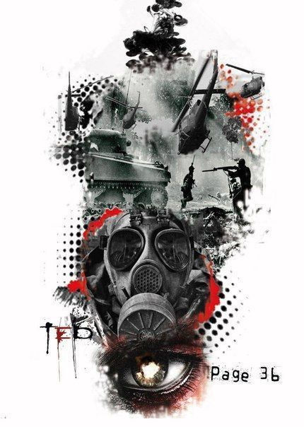 Gas Realistic Polka Trash Mask Tattoos Trash Polka Tattoo Designs Trash Polka Art Trash Polka