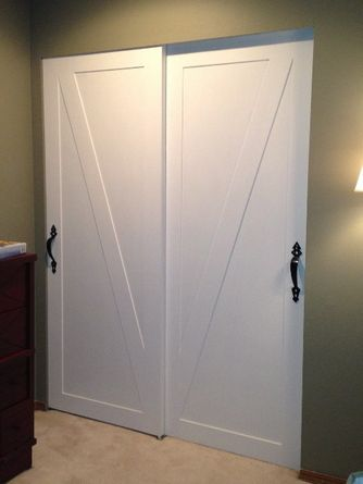 I started with sliding closet doors to see my idea would even work.