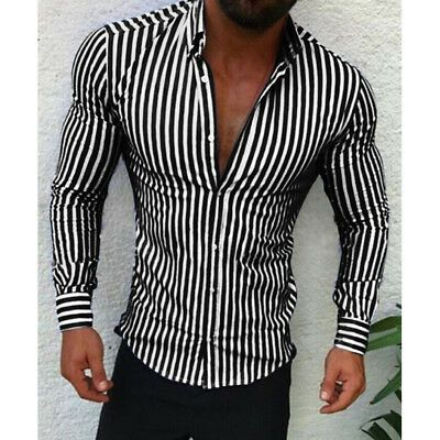 Vska Men Fashion Causal V Neck Striped Classic Short Sleeve Cozy T-Shirt