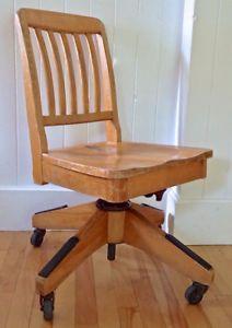 Antiquité Collection Ancienne Chaise De Bureau En Bois
