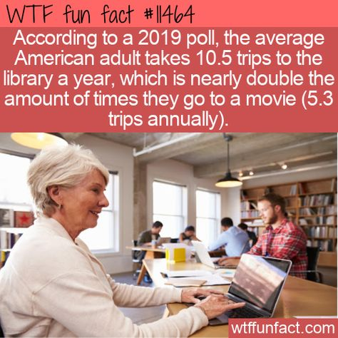WTF Facts : funny, interesting  weird facts WTF Fun Fact - Popular Libraries #wtf #funfact #wtffunfact 11464 #funnyfacts #library #movie #Movies #poll #randomfact #randomfacts #randomfunnyfact #wtffunfact