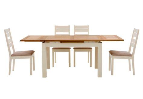 shiraz small extending dining table set of 4 tunis dark leg chairs rh pinterest ca