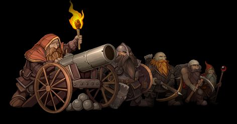 Dwarven Army Characters