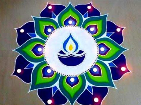 Diwali 2019 Rangoli Designs: 10 unique Rangoli designs made