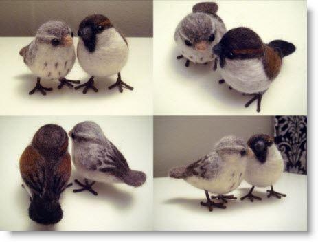 Needle Felt Love Birds tutorial