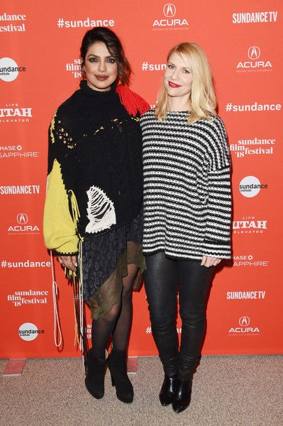 Priyanka Chopra and Claire Danes attend the 'A Kid Like Jake' premiere during the 2018 Sundance Film Festival.