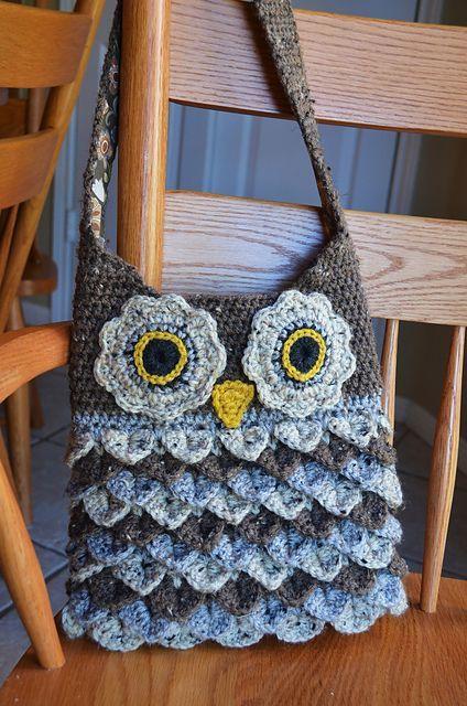 Crochet Bag Pattern Crochet Owl Pattern Crochet Purse Pattern