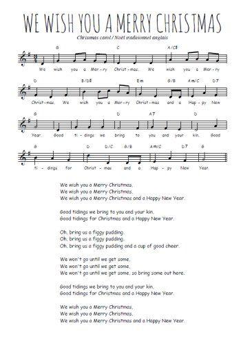 We Wish You A Merry Christmas Partition Gratuite Partitions Gratuites Paroles De Chansons Francaises Le Bon Roi Dagobert