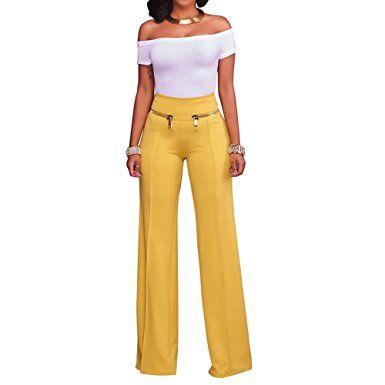 Ruf zuerst Weltweit Versandkostenfrei großer Abverkauf Damen Anzughose Elegant Business Hose Pants Schlaghose ...