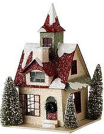 Miniature Houses Casas De Hadas Casas De Navidad Artesanias De Navidad Adornos De Navidad Papa N Christmas Village Houses Glitter Houses Cute Little Houses