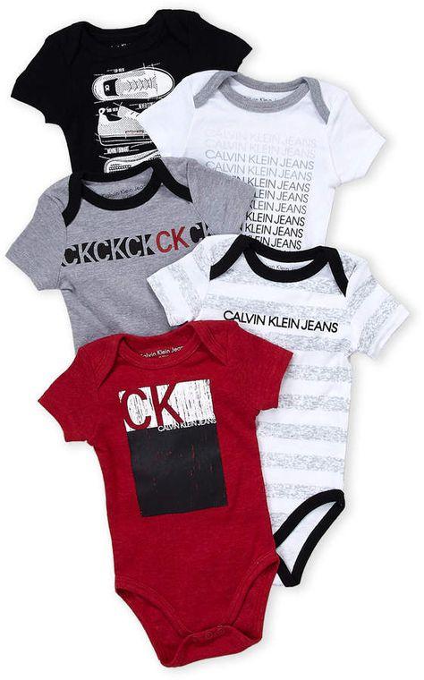 Calvin Klein Infant Boys White & Gray