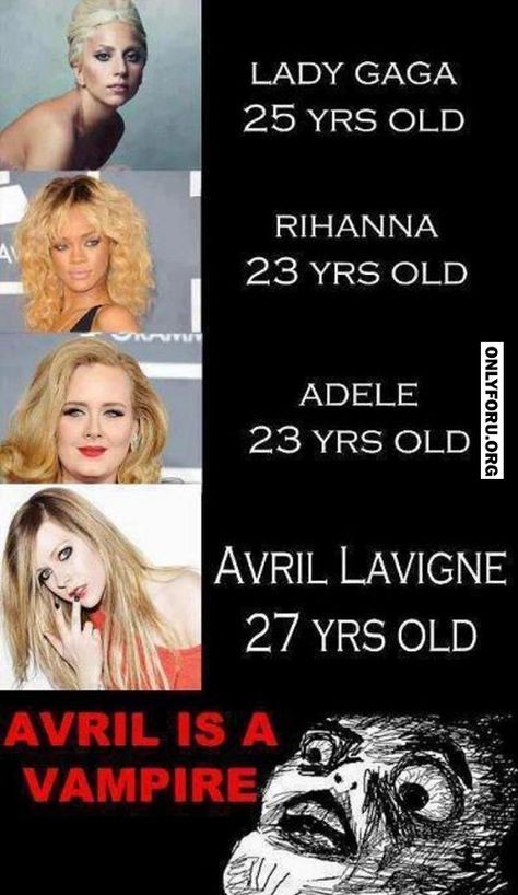 Avril Lavigne is a vampire! - #OnlyForU, #funny, #lol, #fun, #humor, #rofl, #gif, #troll, #comics, #meme, #gags, #new, #lol pics, #lol gifs, #Funny pics, #Funny gifs,