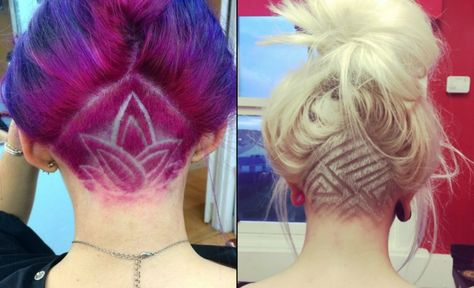 List Of Pinterest Undercut Frauen Lange Haare Nacken Pictures
