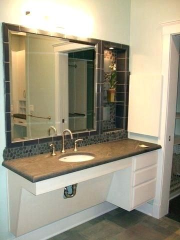 Locate Fresh Inspiration From 10 Unconventional Bathroom Vanities That Are As Useful As The Genuine Bar Handicap Bathroom Ada Bathroom Accessible Bathroom Sink