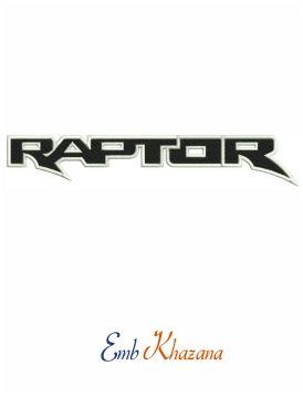 Ford Car Raptor Logo Embroidery Design Ford Car Raptor Logo