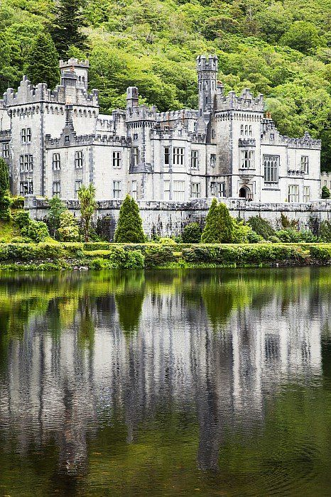 Kylemore abbeyCounty galway ireland Canvas Art - Peter Zoeller Design Pics x