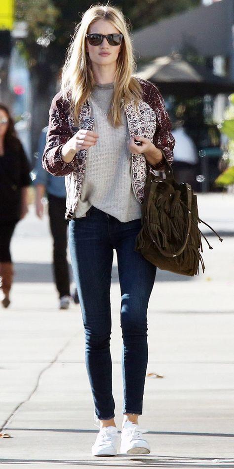 Casual Sunday Dressing the Rosie Huntington-Whiteley Way
