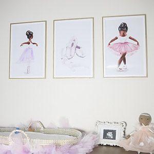 Girls Room Decor Girly Artwork Ballerina Wall Art Baby Girl Nursery Print Prima Ballerina Shoes Fluffy Sparkle Tutu Dress Ballet Dancer