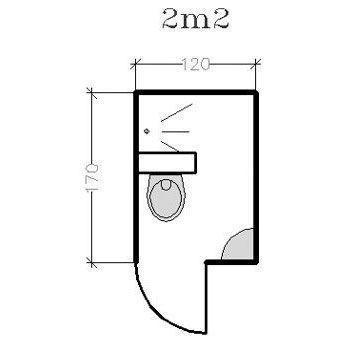 15 plans pour une petite salle de bains de 2 à 5m² : conseils d'architectes - CôtéMaison.fr Tiny bathroom blueprints.