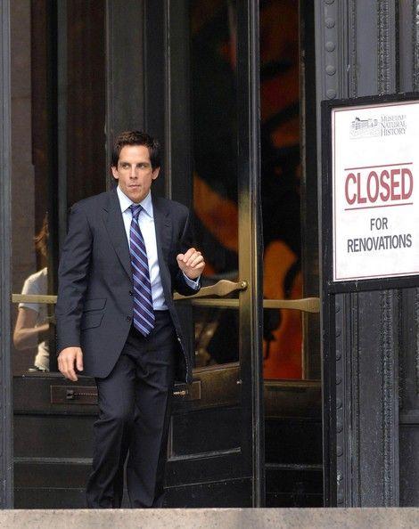 Ben Stiller Filming Night At The Museum 2 In New York City Filmes