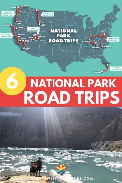 Road Trip Map, Road Trip Destinations, California National Parks, National Parks Usa, Road Trip National Parks, West Coast Road Trip, East Coast Travel, Family Road Trips, Family Vacations