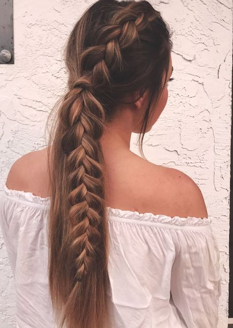 115 summer hairstyles to show off in the sun - - 115 summer hairstyles to show off in the sun Hair styles Cute Braided Hairstyles, Summer Hairstyles, Pretty Hairstyles, Hairstyle Ideas, Hairstyles 2018, Anime Hairstyles, Homecoming Hairstyles, Updo Hairstyle, Long Hairstyles With Braids