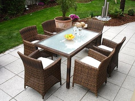Noblesse Palermo L Gartenmobel Rattan 6 Sessel 1 Tisch