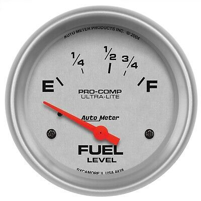 Sponsored Ebay Autometer 4418 Ultra Lite Electric Fuel Level Gauge In 2020 Electricity Gauges Fuel