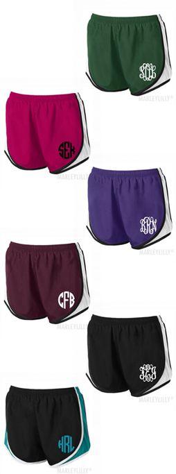 Monogrammed Running Shorts from Marleylilly.com