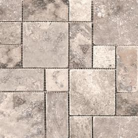 Emser Travertine 10 Pack Silver Travertine Border Tile Common 12