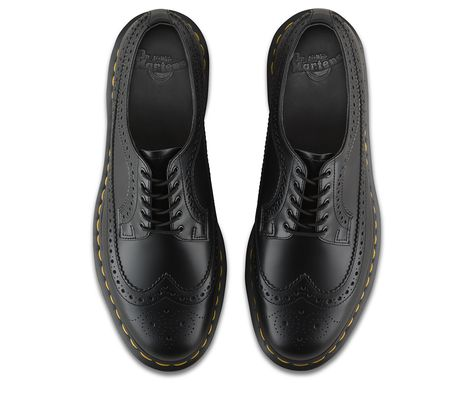 Dr. Martens Black & White 3989 Brogues | Dress shoes men