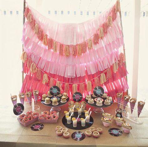 50's Theme party decor