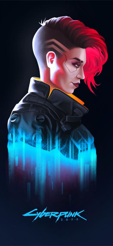 v in cyberpunk 2077 iPhone X Wallpapers