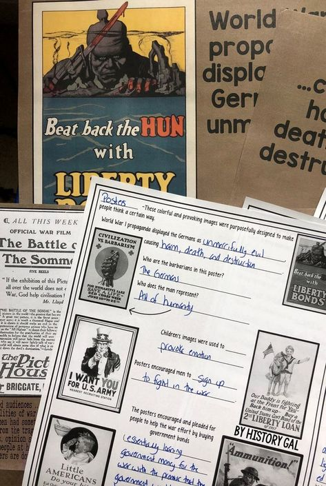 World War I Propaganda | Teaching U S  History from 1877 to