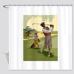 Lyingcat Mug Golf Theme Curtains Shower